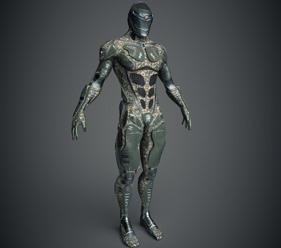 3D future warrior pbr model