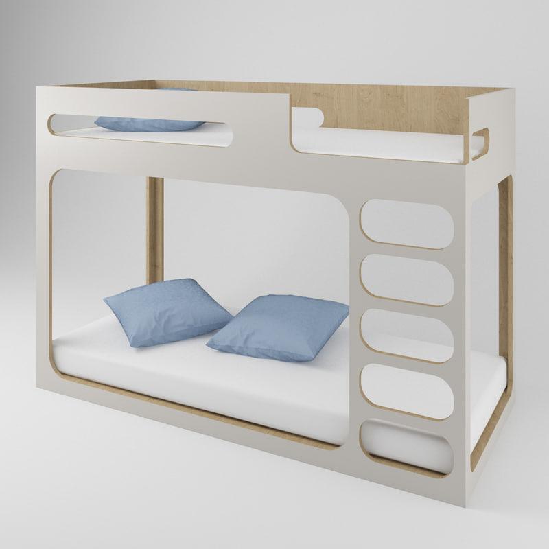 Modern Loft Bed Model