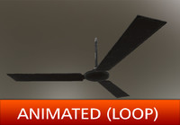 Old Ceiling Fan (Animated)