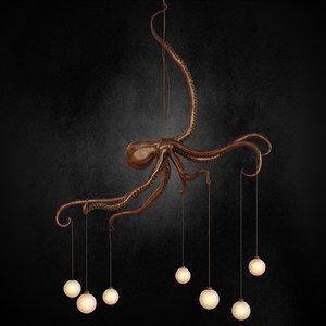 octopus chandelier 3D model