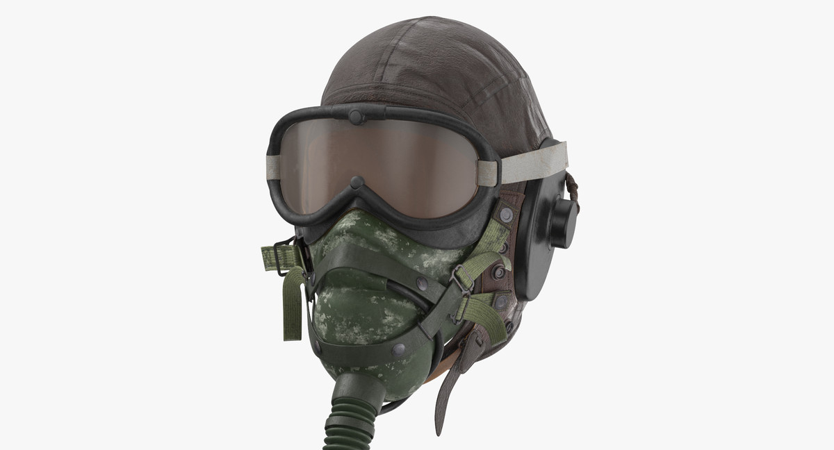 pilot head gear oxygen 3D model