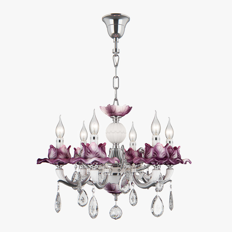 3D chandelier 714064 anemone osgona model