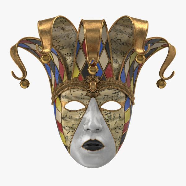 carnival mask v3 3D model