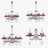 3D chandelier anemone osgona model