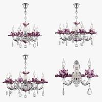3D chandelier anemone osgona model