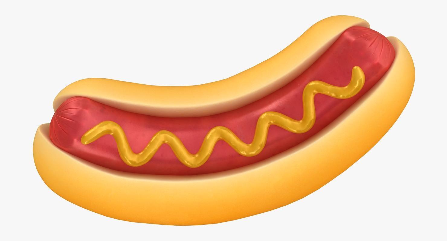 cartoon hot dog sauce 3D model