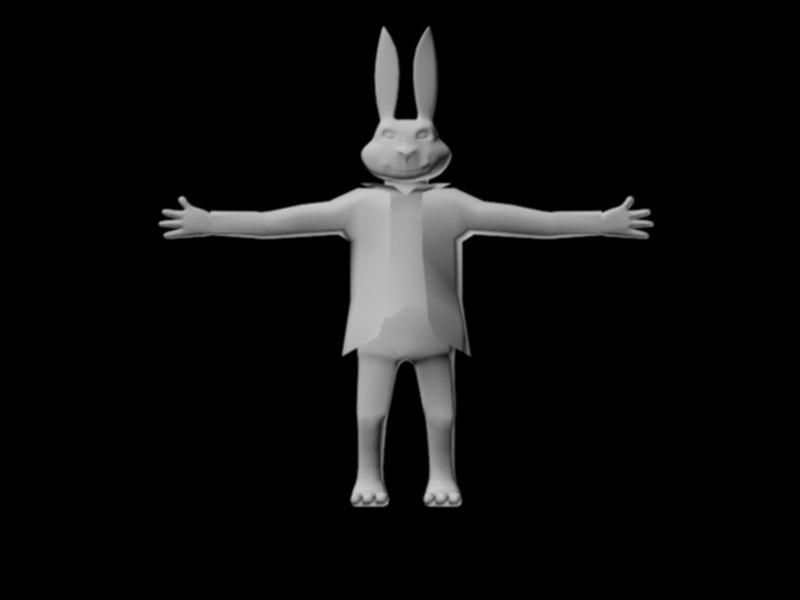 3D rabbit character model