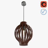 3D modern wooden lattice chandelier