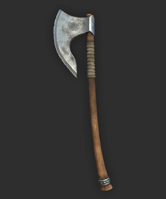 3D model bearded axe