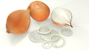 3D onion yellow