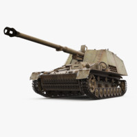 sdkfz 164 nashorn german tank 3D model