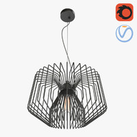 3D model lattice loft chandelier