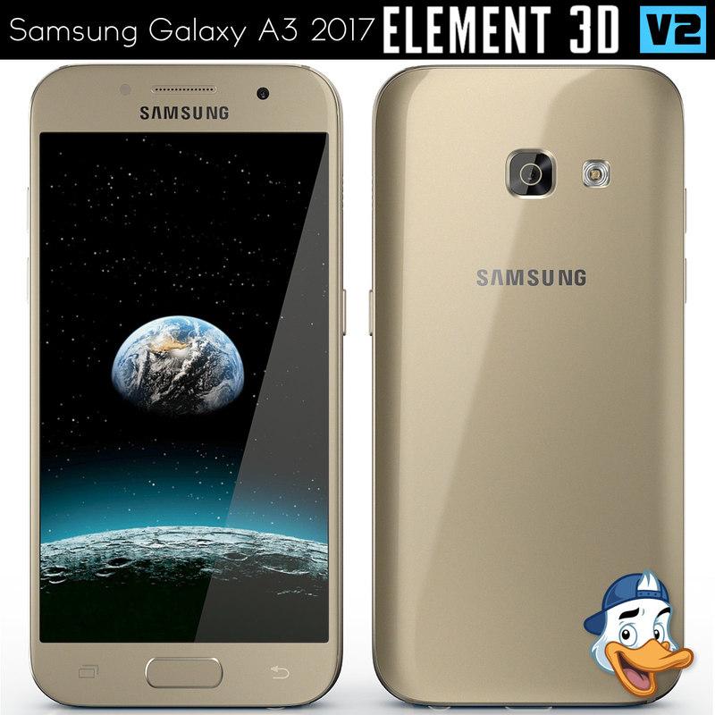 3D samsung galaxy a3 2017