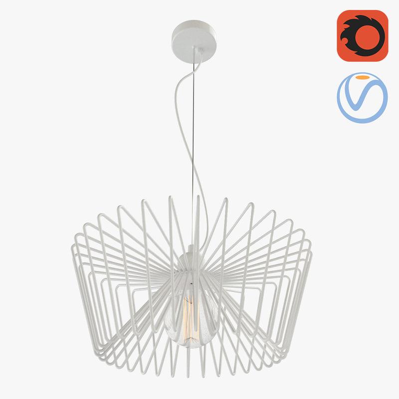 3D lattice loft chandelier model