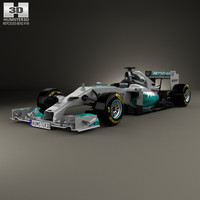 3D mercedes-benz w05 2014