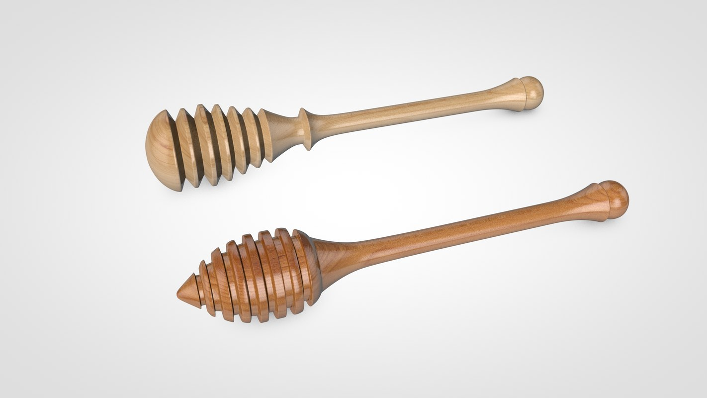 honey dipper 3D model