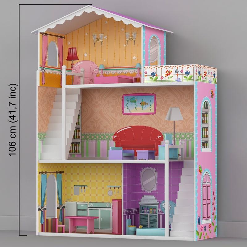 3D dolls house