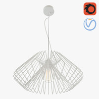 lattice loft chandelier 3D