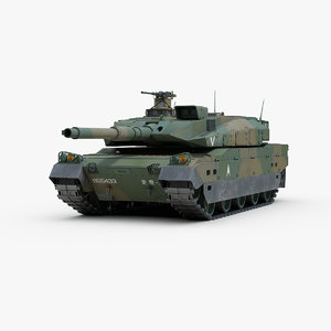 modern type 10 battle tank 3D model