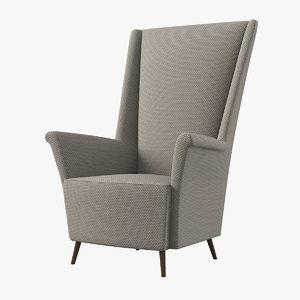 aliyah armchair 3D model