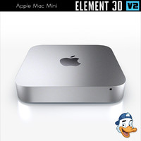 apple mac mini element 3D model
