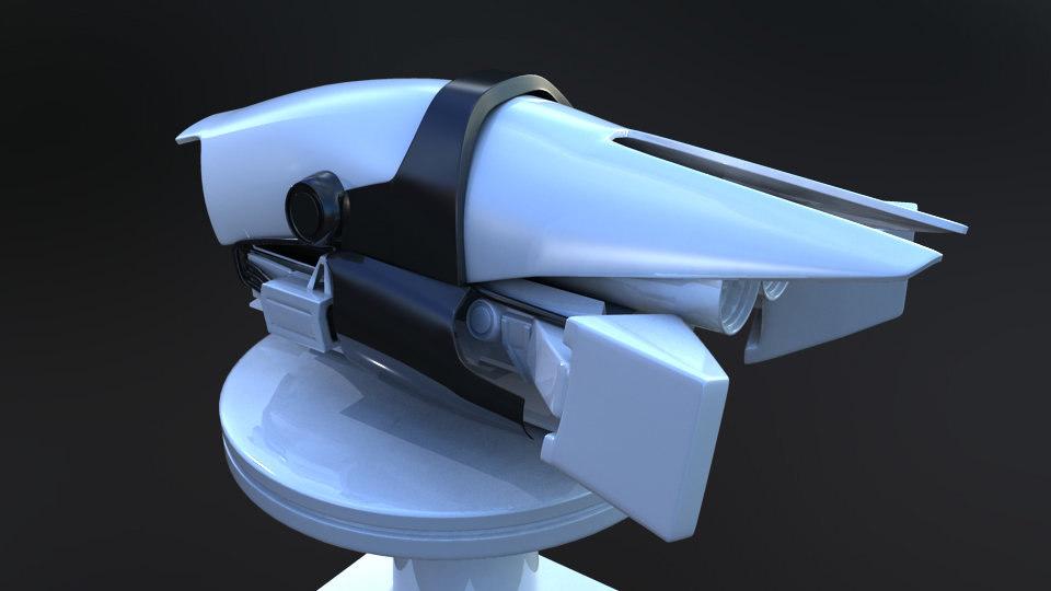 3D sci-fi drone prototype machine model