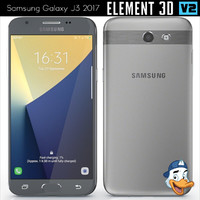 3D model samsung galaxy j3 2017