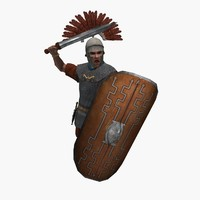 Low-poly Roman Centurion