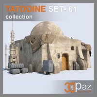 3D tatooine set - 01