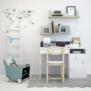 nursery furniture 3D model