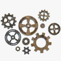 3D steampunk gears