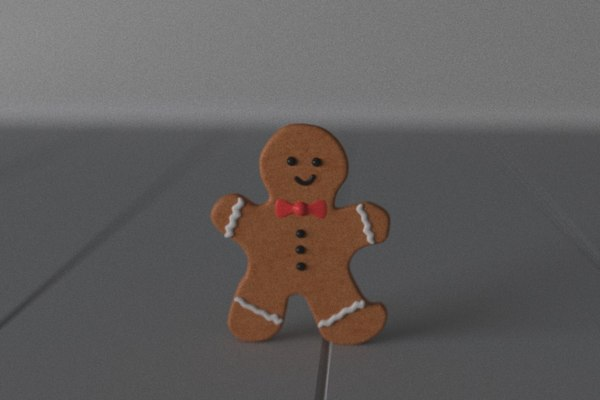 3D cookie boy model