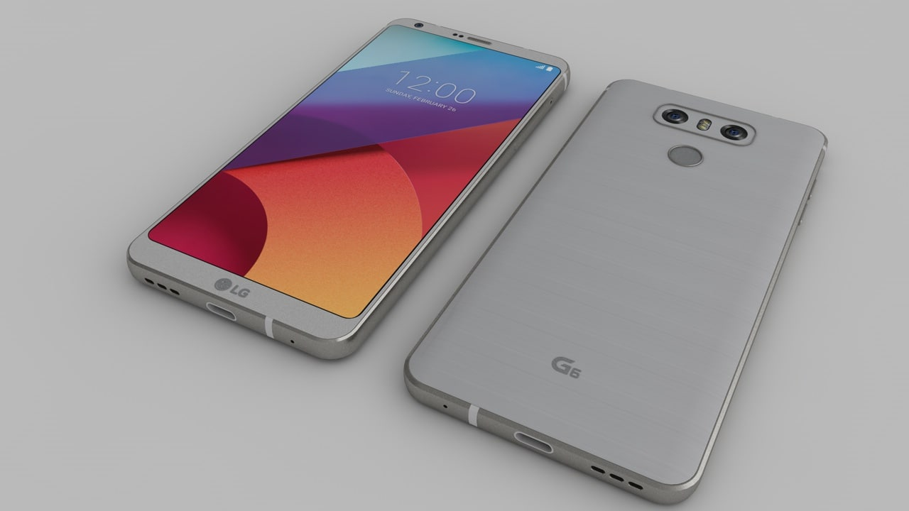 lg g6 phone 3D model