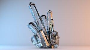 3D mineral crystals 1 model