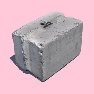 3D model concrete barrier block