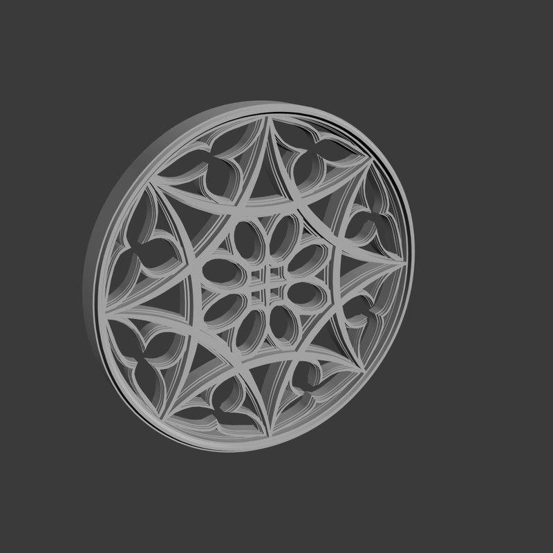 3D ornament building decoration model