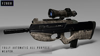 3D fn herstal f2000 assault rifle model
