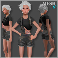 3D model jumpsuit set