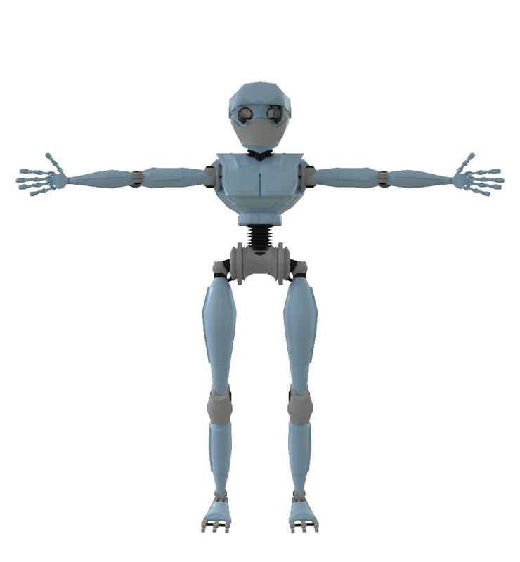anthropoid robot 3D model