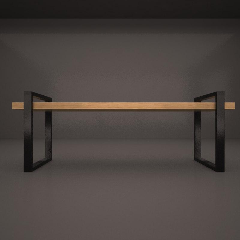 bench 3D