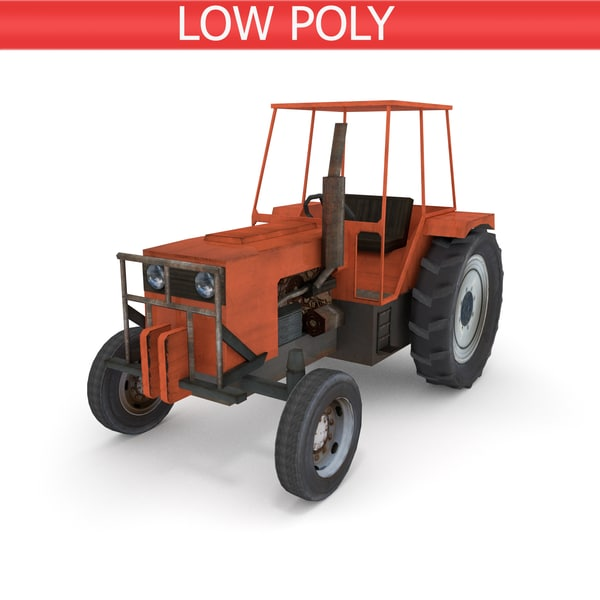 farm tractor industrial 3D model