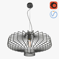 3D lattice loft chandelier 3