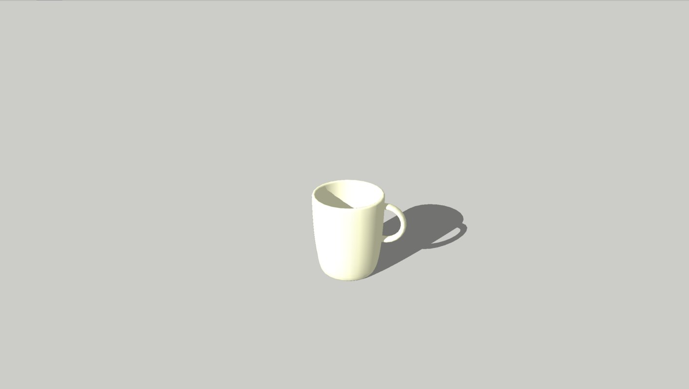 coffe cup model