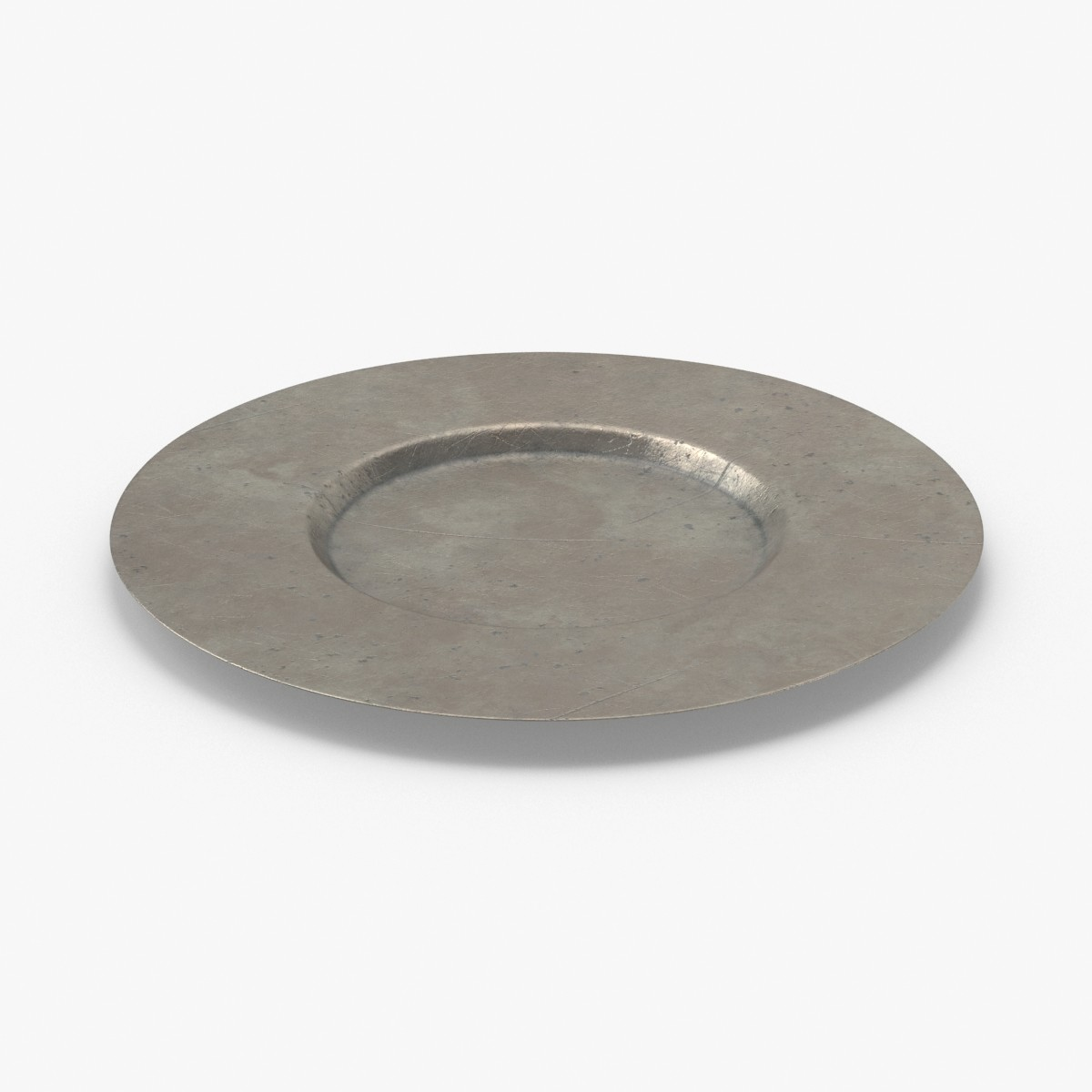 pewter-dishware---plate-02 3D