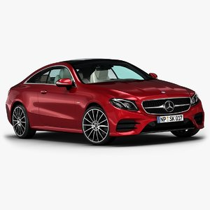 2017 mercedes-benz e-class coupe 3D model