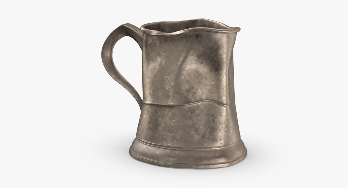 3D pewter mug 02