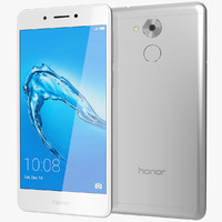 realistic honor 6c silver 3D model