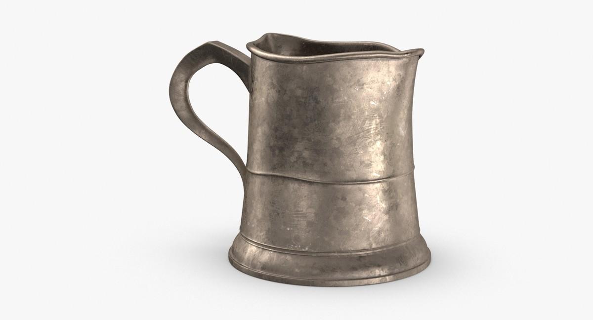 pewter mug 03 3D