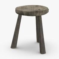 3D rustic-stool-01