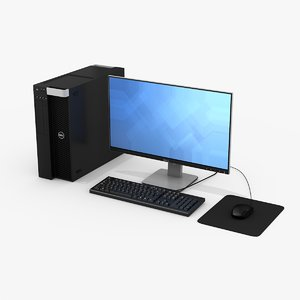 dell workstation monitor 3D model